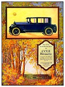 Indiana Autumn Digital Art Prints - 1923 - Cole Brouette Automobile Advertisement - Color Print by John Madison