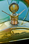 Ford Posters - 1923 Ford Model T Hood Ornament Poster by Jill Reger