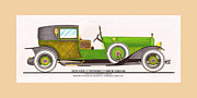 Classic Car Art Drawings - 1923 Minerva by Raymond H. Dietrich LeBaron Inc by Jack Pumphrey