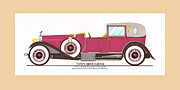 Classic Car Art Drawings - 1923 Rolls Royce by Raymond H Dietrich by Jack Pumphrey