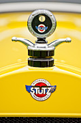 1923 Prints - 1923 Stutz KLDH Bearcat Hood Ornament Print by Jill Reger