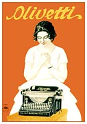 Olivetti Posters - 1924 - Olivetti Typewriter Advertisement Poster - Color Poster by John Madison