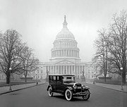 U.s. Capitol Dome Posters - 1924 FORD LINCOLN at U. S. CAPITOL Poster by Daniel Hagerman