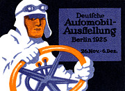 Berlin Germany Painting Posters - 1925 Berlin Car Show Poster by Historic Image