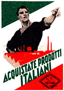 Patriotism Paintings - 1925 Buy Italian Goods by Historic Image