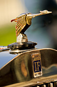Beach Photographs Prints - 1925 Isotta Fraschini Tipo 8A S Corsica Boattail Speedster Hood Ornament Print by Jill Reger