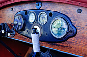 Stutz Prints - 1925 Stutz Series 695H Speedway Six Torpedo Tail Speedster Dashboard Instruments Print by Jill Reger