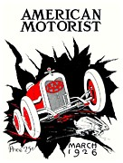 Magazine Cover Digital Art - 1926 - American Motorist A A A Magazine Cover - Color by John Madison