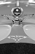 Black And White Photographs Metal Prints - 1926 Duesenberg Model A Boyce MotoMeter 2 Metal Print by Jill Reger