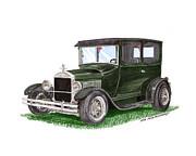 1926 Ford Tudor Sedan Street Rod Print by Jack Pumphrey