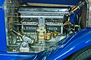 1926 Posters - 1926 Hispano-Suiza Engine Poster by Jill Reger