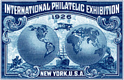Postage Stamps Paintings - 1926 New York International Philatelic Exhibit by Historic Image