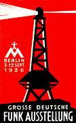 Berlin Germany Painting Posters - 1926 Radio and Broadcasting Exhibit Poster by Historic Image
