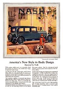 Car Chase Posters - 1927 - Nash Ambassador Automobile Advertisement - Color Poster by John Madison