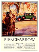 1927 Pierce-arrow Posters - 1927 - Pierce Arrow Automobile Advertisement - Color Poster by John Madison