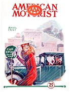 Magazine Cover Digital Art - 1927 - American Motorist A A A  April Magazine Cover - Color by John Madison