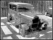 Ford Model T Car Prints - 1927 Model T Ford Sedan Print by Glenn McCarthy Art and Photography