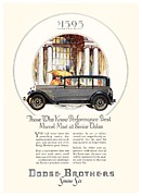 1928 Dodge Brothers Framed Prints - 1928 - Dodge Brothers Automobile Advertisement - Color Framed Print by John Madison