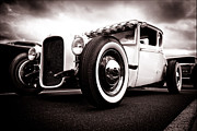 Monochrome Hot Rod Posters - 1928 A Coupe Poster by Phil