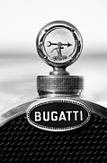 Bugatti Vintage Car Photos - 1928 Bugatti Type 44 Cabriolet Hood Ornament - Emblem by Jill Reger