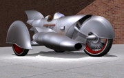 Rivets Art - 1928 Steam Turbine Trike by Stuart Swartz