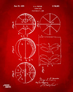 1929 Basketball Patent Artwork - Red Print by Nikki Marie Smith
