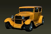 Model A Sedan Posters - 1929 Ford Model A Sedan Hot Rod Poster by Tim McCullough