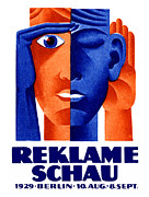 Berlin Germany Painting Posters - 1929 German Advertising Exposition Poster by Historic Image