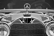 Collector Hood Ornament Metal Prints - 1929 Mercedes-Benz S Erdmann - Rossi Cabiolet Hood Ornament Metal Print by Jill Reger