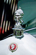 Sedan Prints - 1929 Minerva Hood Ornament Print by Jill Reger