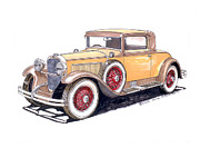 Framed Art Paintings - 1929 Nash Advanced 6 Sport by Jack Pumphrey