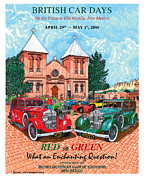 Event Painting Framed Prints - 1929 Red and Green  Rolls Royce Framed Print by Jack Pumphrey
