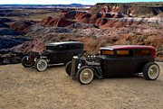 Ford Sedan Prints - 1930 and 1931 Ford Sedan Rat Rods Print by Tim McCullough