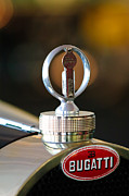 Bugatti Vintage Car Photos - 1930 Bugatti Type 43 Supercharged Sports Hood Ornament by Jill Reger