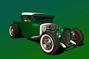 Custom Ford Metal Prints - 1930 Ford Custom Hot Rod Pickup Metal Print by Tim McCullough