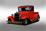 Model A Sedan Posters - 1930 Ford Model A Pick Up Poster by Dave Koontz
