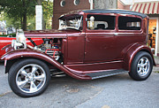 Purple Ford Photos - 1930 Ford Two Door Sedan Side View by John Telfer