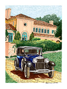 Limousine Prints - 1930 Lincoln Berline limousine  Print by Jack Pumphrey