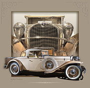 1930 Digital Art - 1930 Ruxton Roadster by Roger Beltz
