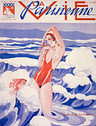 1930s Drawings Prints - 1930s France La Vie Parisienne Magazine Print by The Advertising Archives
