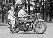 Phones Photos - 1930s MOTORCYCLE TOURING by Daniel Hagerman