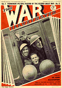 Ww2 Drawings Posters - 1930s Uk The War Illustrated Magazine Poster by The Advertising Archives