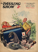 Tires Drawings Posters - 1930s,uk,passing Show,magazine Cover Poster by The Advertising Archives