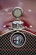 Beach Photographs Posters - 1931 Alfa-Romeo Hood Ornament Poster by Jill Reger