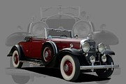 1931 Roadster Framed Prints - 1931 Cadillac V12 Roadster Framed Print by Tim McCullough