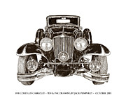 1932-1937 Framed Prints - 1931 Cord Cabriolet L 29 Framed Print by Jack Pumphrey