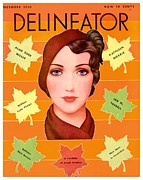 Magazine Cover Digital Art - 1931 - Delineator Magazine Cover - October - Color by John Madison