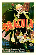 Movie Mixed Media - 1931 Dracula Vintage Movie Poster by Presented By American Classic Art