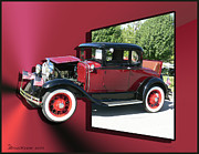 Model A Digital Art Posters - 1931 Ford Model A Poster by EricaMaxine  Price