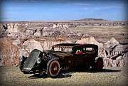 Ford Sedan Photos - 1931 Ford Sedan Rat Rod by Tim McCullough